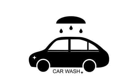 car wash icon vector illustration on white Illustration