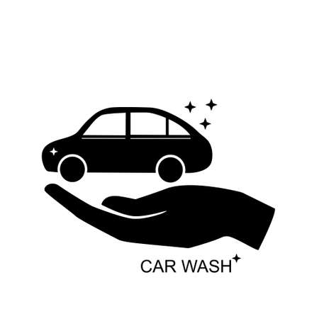 Car hand wash icon vector illustration isolated