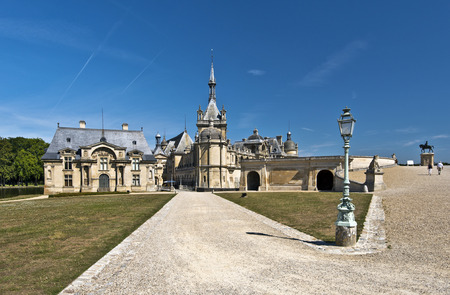 chantilly: Walking pass to Chantilly castle Editorial