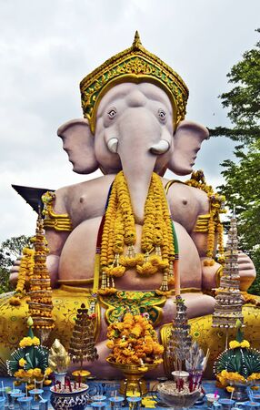 worshiped: Statue of Ganesha called Expired in Thailand Phra Phikanet, have worshiped in popular site in Ayutthaya city.