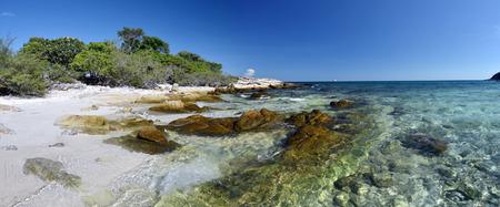 samet: Panorama of eastern coastline of Ko Samet Island, Rayong Province Situated in Thai, in gulf of Thailand