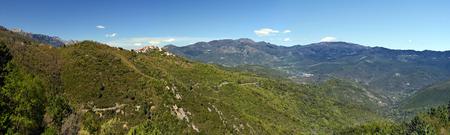regional: Landscape of Corsican Natural Regional Park around Riventosa village, township of Venaco in central Corsica, Corsica, France