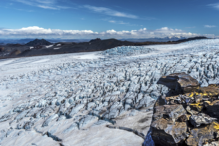 View at Kverkfjoll Glassier in Vatnajokull National Park of Iceland Imagens