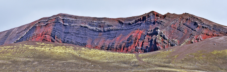 Colorful rock formation along Landmannaleid road 225 in  Highlands of Iceland. Fridland ad Fjallabaki Natural park Фото со стока