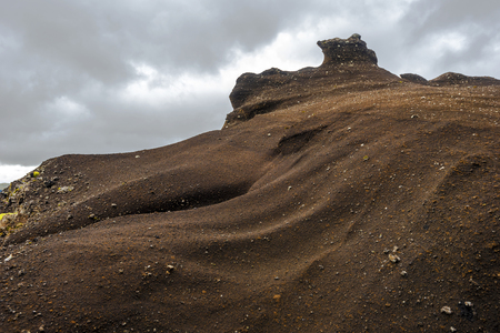 Amazing sandstone formations along Kerlingardalur Road via Thakgil Canyon in Southern Iceland.