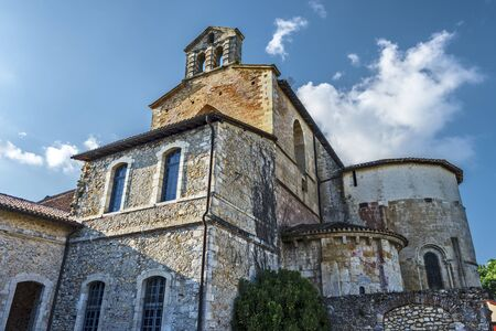 Abbatial Church of Saint-Jean de Sorde as a part of the Medieval Abbey complex in French historical Gascony in France, Nouvelle Aquitaine. 写真素材