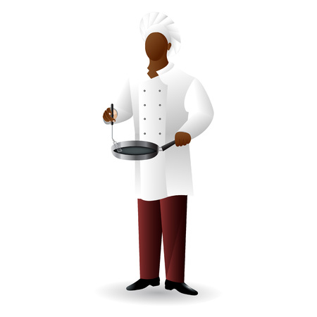 Chef colored flat icon with gradient fill isolated on white background