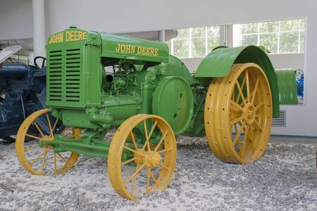 john deere: Rare tractor �John Deere D� Museum of the City of tractors Cheboksary, Chuvash Republic, Russia. Exhibits in the museum that you can touch. 06052016 Editorial
