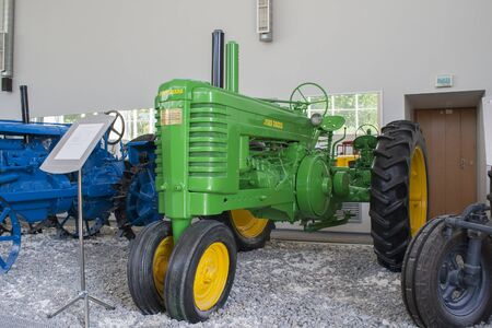 john deere: Rare tractor John Deere A Museum of the City of tractors Cheboksary, Chuvash Republic, Russia. Exhibits in the museum that you can touch. 06052016