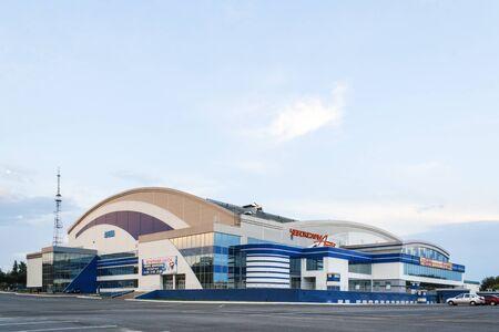 sports complex: Modern building of a sports complex Cheboksary arena in Cheboksary, Chuvash Republic, Russia. 08132016
