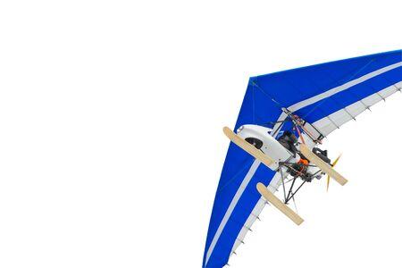 MOTORIZADO: El ala delta motorizada. deportes al aire. Aislado Foto de archivo