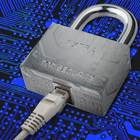 internet traffic: connection to internet security, electronic security, Internet traffic encryption.