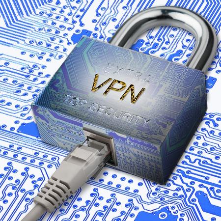 tcp ip: Encrypted communication using VPN.