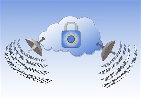 The encrypted connection. Protected cloud storage, server protection.