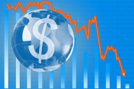 nasdaq: The concept of growth of the dollar. Stock Photo
