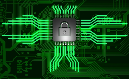 The concept of electronic security. Data encryption. Stock Photo