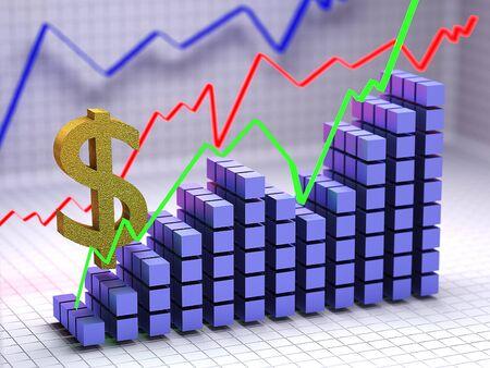 nasdaq: The concept of dollar growth.