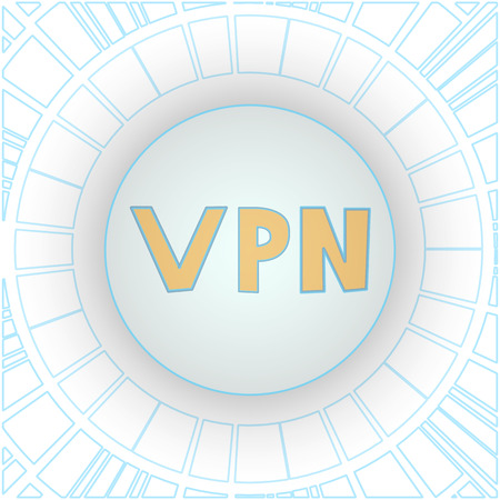 Encryption of Internet traffic using VPN technology. Quad menu