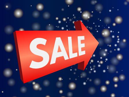 Advertising banner sale. Vector illustration. Stock Vector - 75646481