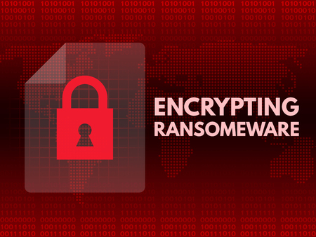Malware Ransomware wannacry virus encrypted files 版權商用圖片 - 78703772