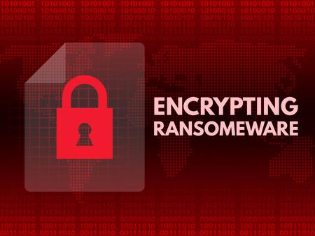 Malware Ransomware wannacry virus encrypted files