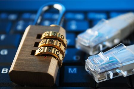 concept of security in the Internet. Stock Photo