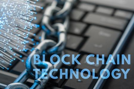The concept of the blok chain technology Zdjęcie Seryjne - 81113533