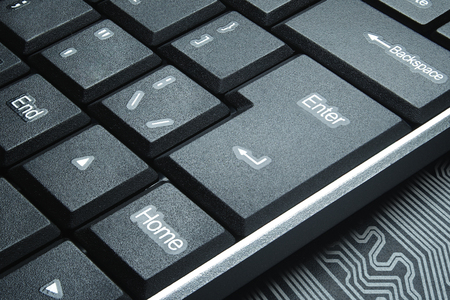 numpad: The concept of the dark Internet. Keyboard buttons close-up.