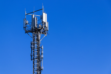 Base station network operator. 5G. 4G, 3G mobile technologies. 版權商用圖片 - 125733228