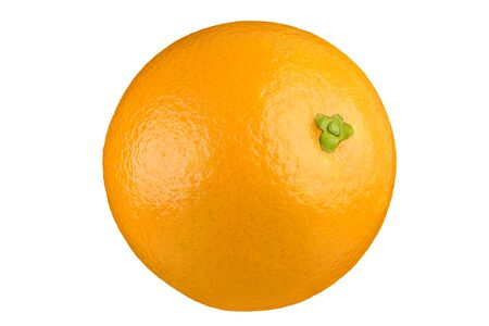 Ripe orange isolated on white background  . Full depth of field