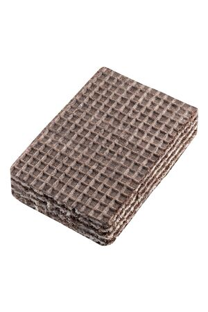 Chocolate waffles isolated on white 写真素材