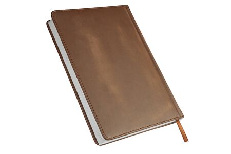 Closed notebook, diary isolated on a white background...