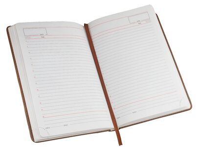 Open notebook, diary isolated on a white background.. 写真素材