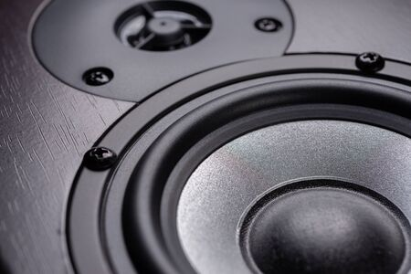 Wooden multimedia system. Audio Speakers... 写真素材