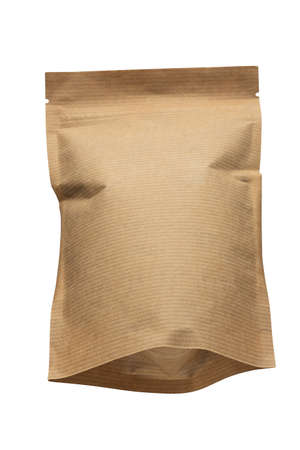 eco-friendly packaging, paper packaging, bag isolated on a white background.
