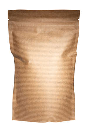 eco-friendly packaging, paper packaging, isolated on a white background. Standard-Bild