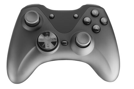 video game controller isolated on white background. Full depth of field. Cut the pen with the tool. Foto de archivo