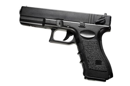 Glock pistol for playing airsoft. Foto de archivo