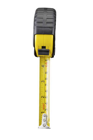 tape measure,isolated on white with clipping path. Standard-Bild