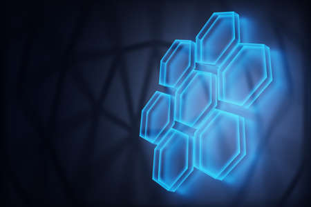 digital technology concept, abstract background 3d rendered