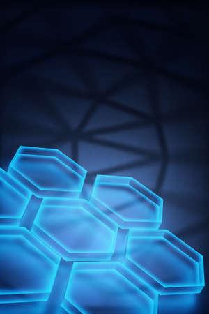 Vertical digital technology concept, abstract background 3d rendered Standard-Bild
