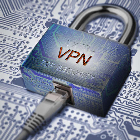 Encrypted communication using VPN.