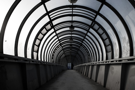 empty tunnel, pedestrian crossing, a city architecture concept Imagens