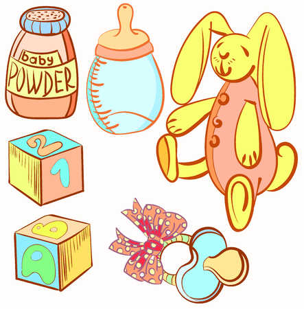 Baby products design, vector illustration