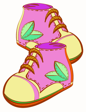 A Vector image of pink shoes