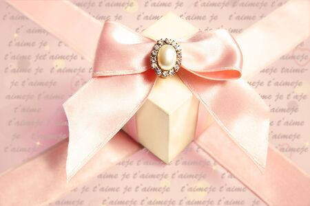 Gift box for woman with ribbons and bow  photo