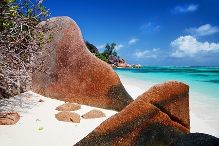 One of the most beautiful beaches in the world Anse source d photo
