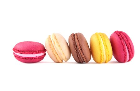 Variety of colorful macaroons Stock Photo