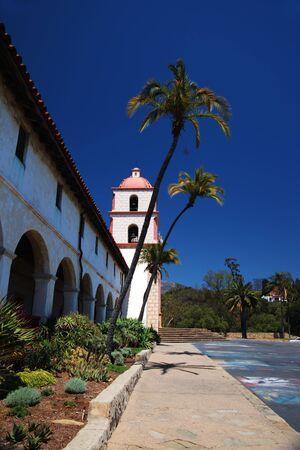 The historic Santa Barbara Mission in California