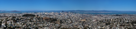 bay area: Panoramic view of San Francisco